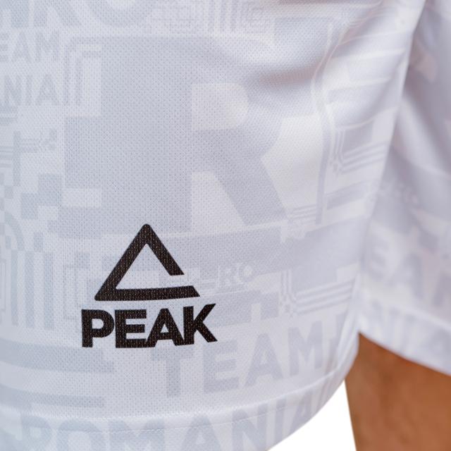 Short antrenament Poly Peak TeamRomania20 alb [2]