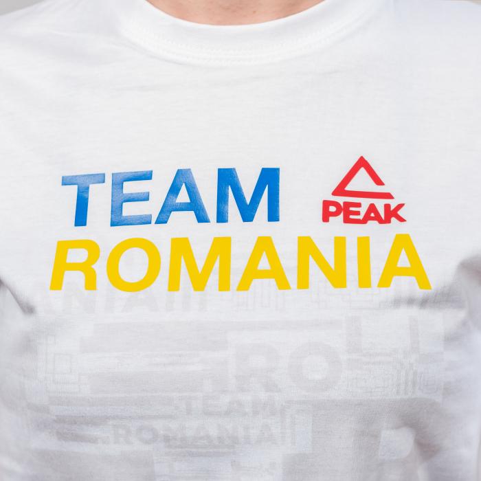 Tricou bumbac PEAK TeamRomania20, alb [4]