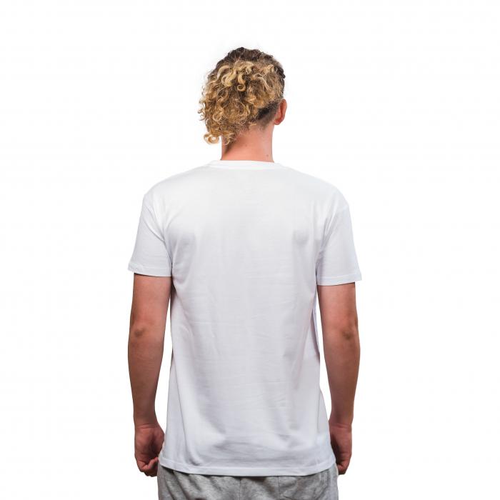 Tricou bumbac PEAK TeamRomania20, alb [2]
