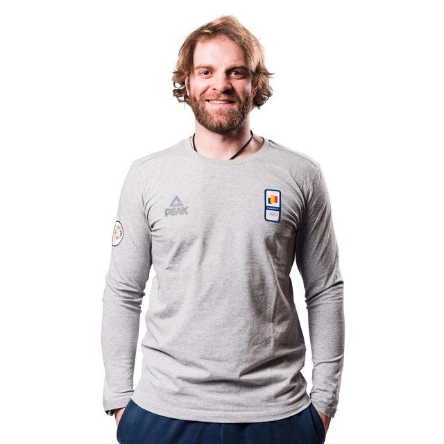 Tricou bumbac PEAK Winter Olympic barbati gri [0]