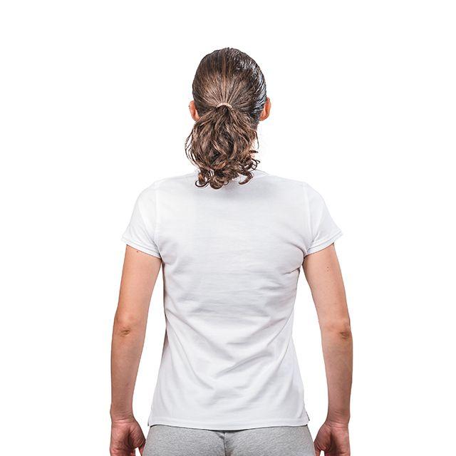 Tricou polo bumbac PEAK TeamRomania alb femei [5]