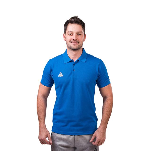Tricou polo PEAK Crew albastru [0]