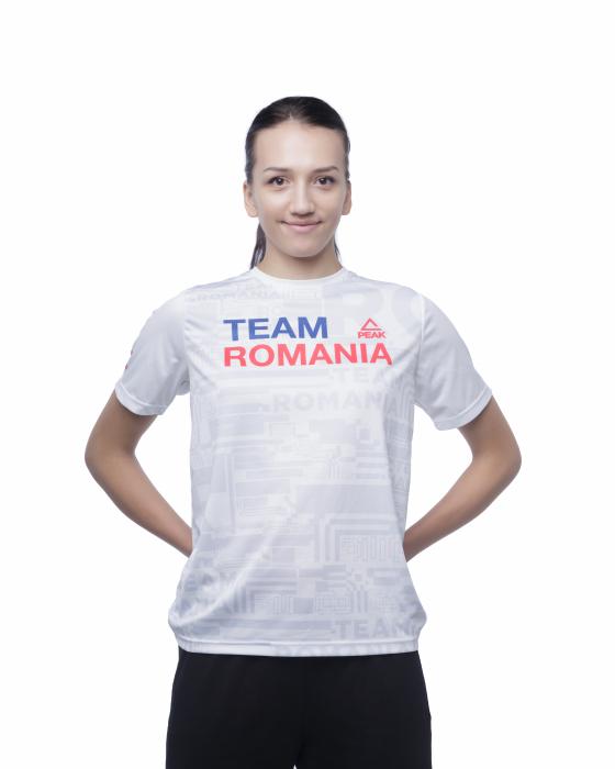 Tricou Poly Peak TeamRomania20 alb [1]