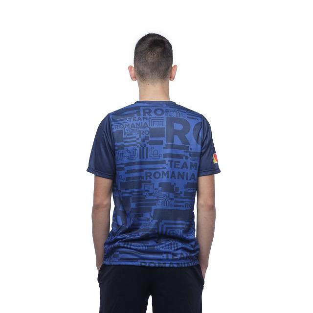 Tricou Poly Peak TeamRomania20 albastru [2]