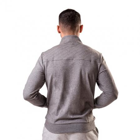 Bluza cu fermoar PEAK Crew gri deschis [2]