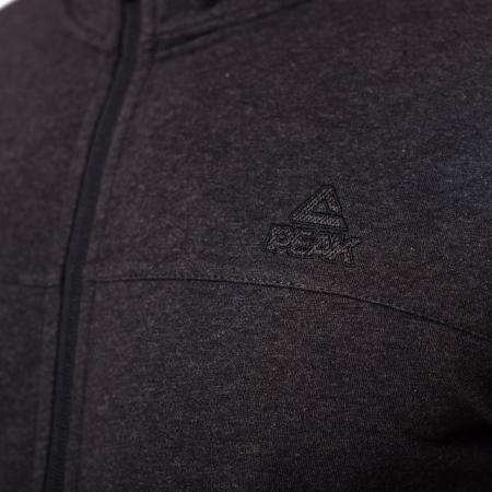 Bluza cu fermoar PEAK Crew gri inchis [2]