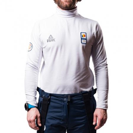 Bluza pe gat PEAK Winter Olympic barbati alb [1]