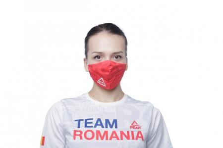 Masca faciala TeamRomania20 rosu [1]