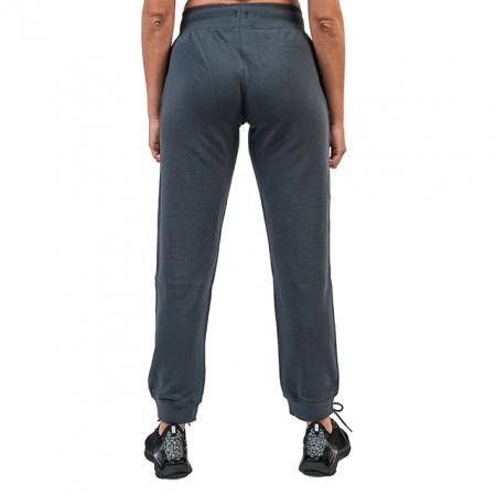 Pantaloni trening PEAK bumbac dama gri/roz [3]