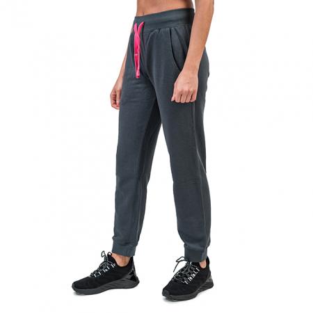 Pantaloni trening PEAK bumbac dama gri/roz [2]