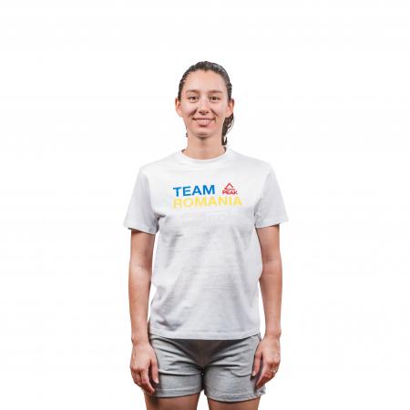Tricou bumbac PEAK TeamRomania20, alb [3]