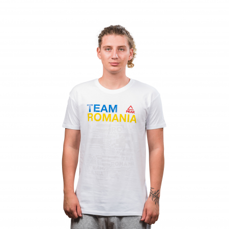 Tricou bumbac PEAK TeamRomania20, alb [1]