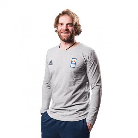 Tricou bumbac PEAK Winter Olympic barbati gri [1]