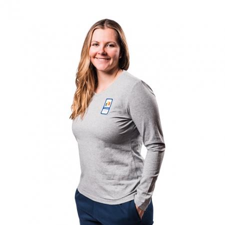 Tricou bumbac PEAK Winter Olympic dama gri [1]