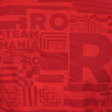 Tricou bumbac TeamRomania20 rosu feminin [2]