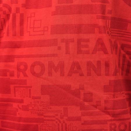 Tricou bumbac TeamRomania20 rosu masculin [2]