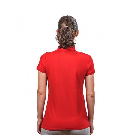 Tricou polo bumbac PEAK TeamRomania rosu femei [1]