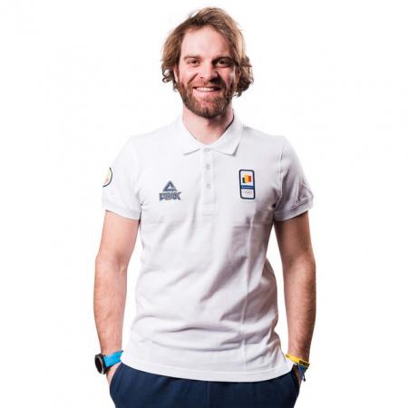 Tricou Polo bumbac PEAK Winter Olympic barbati alb [0]