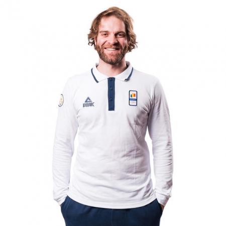 Tricou Polo bumbac PEAK Winter Olympic barbati alb/navy [0]