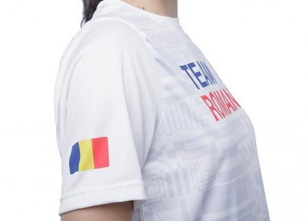 Tricou Poly Peak TeamRomania20 alb [2]
