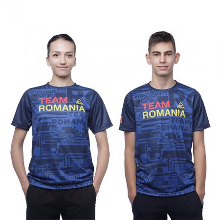 Tricou Poly Peak TeamRomania20 albastru [1]