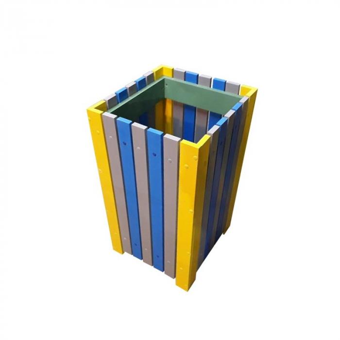 Cos de exterior pentru gunoi 60 L din pvc multicolor [0]