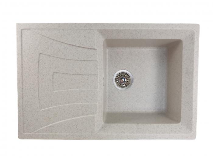 Mixxus HB8104-G319 nisip, chiuveta bucatarie dreptunghiulara din granit [0]