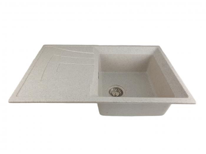 Mixxus HB8104-G319 nisip, chiuveta bucatarie dreptunghiulara din granit [2]