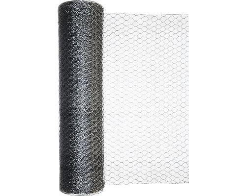 Plasa gard impletit, hexagonala, zincata, 1 x 25 m x0,80 mm grosime [0]