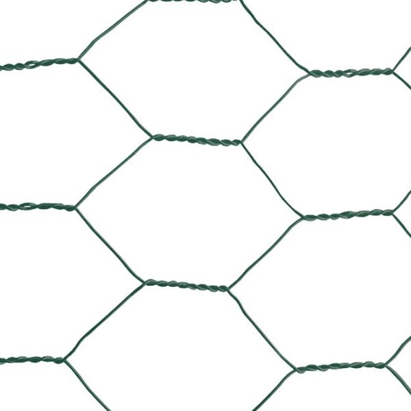 """Plasa rabitz zn plastifiata 1x10 m - 1""""(25 mm)x1 mm [1]"""