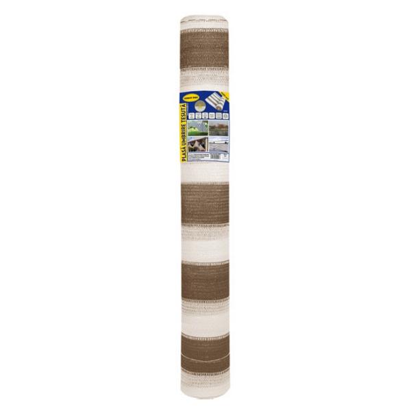 Plasa umbrire 1.5x10 m - maro + alb - 80 g/mp [0]