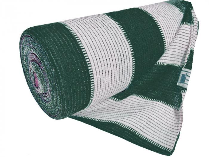 Plasa Umbrire Multicolor HDPE UV alb-verde 95% mp, lungime 10m,latime 2 m [0]