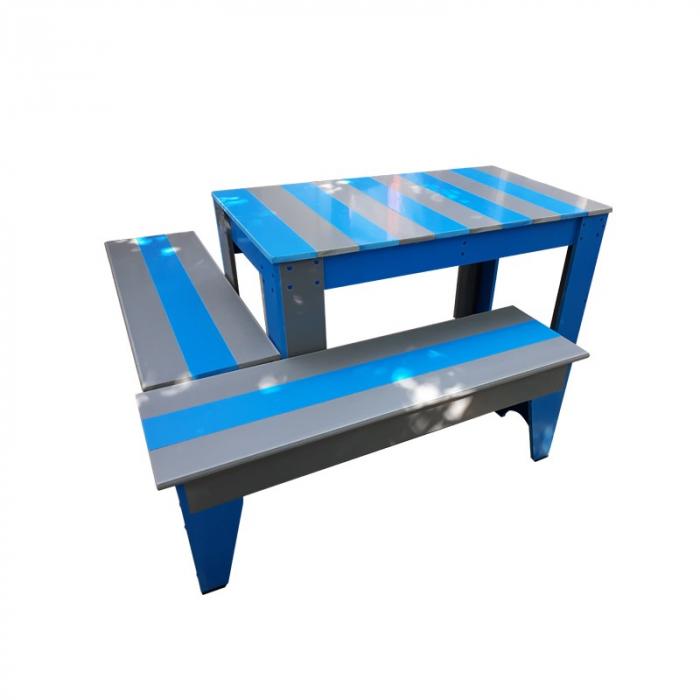 Set masuta cu canapele pentru gradina colectia rustic PVC [0]