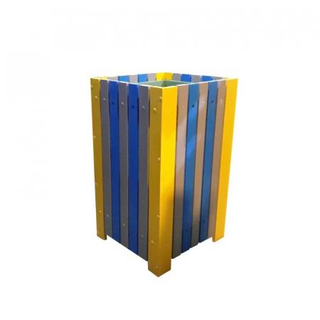 Cos de exterior pentru gunoi 60 L din pvc multicolor [1]