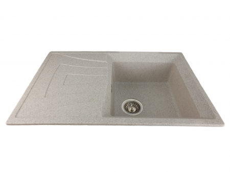 Mixxus HB8104-G319 nisip, chiuveta bucatarie dreptunghiulara din granit [1]