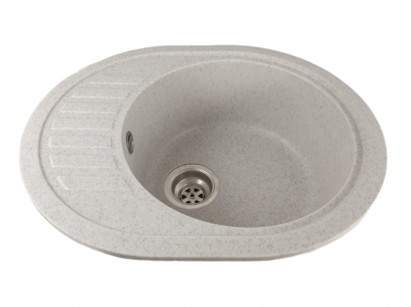 Mixxus HB8311-G319 nisip, chiuveta ovala bucatarie granit [1]