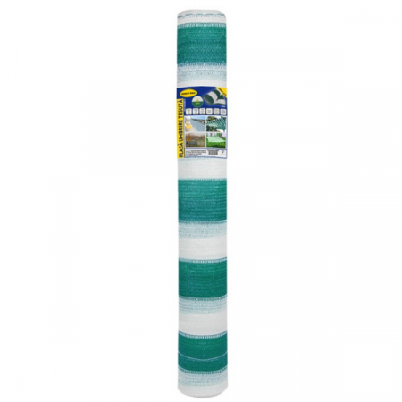 Plasa umbrire 2x10 m - verde + alb - 80 g/mp [0]