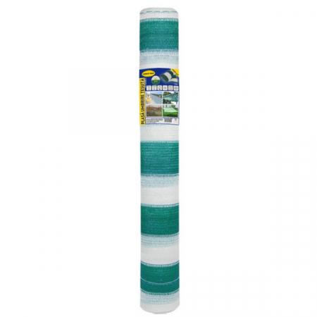 Plasa umbrire 1.7x10 m - verde + alb - 80 g/mp [0]