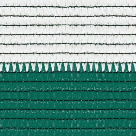 Plasa umbrire 1.7x10 m - verde + alb - 80 g/mp [1]