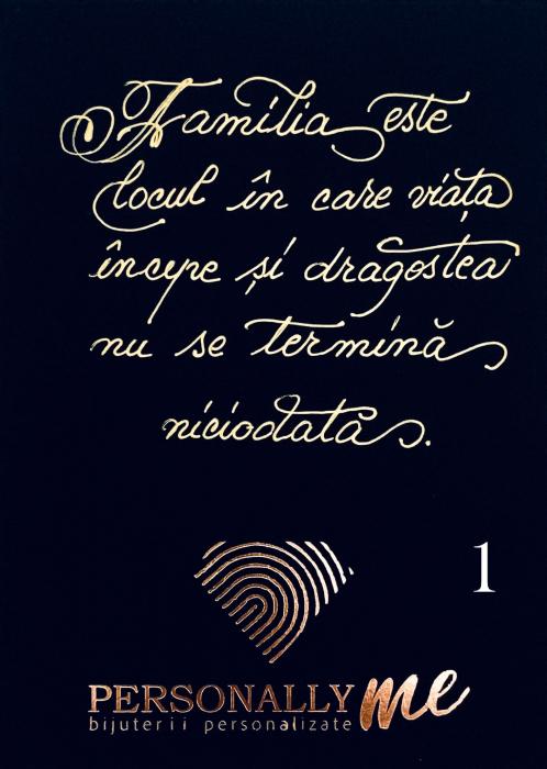 Felicitare caligrafiata mesaj special cadou prieteni 2