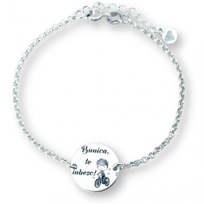 Bratara argint personalizata simbol Baietel cadou pentru Bunica [0]