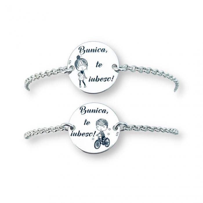 Bratara argint personalizata simbol Baietel cadou pentru Bunica [2]