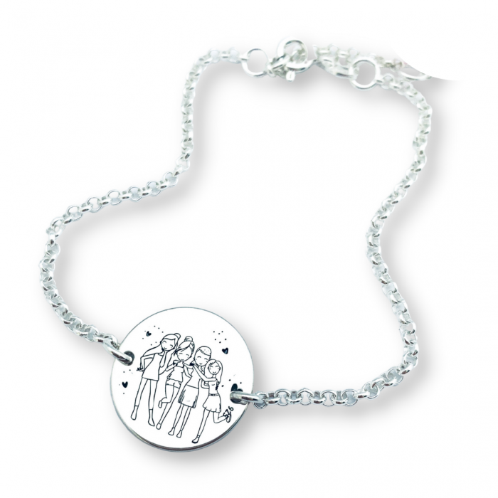 Bratara personalizata argint banut gravat Sisters - Cadou nunta cununie [0]