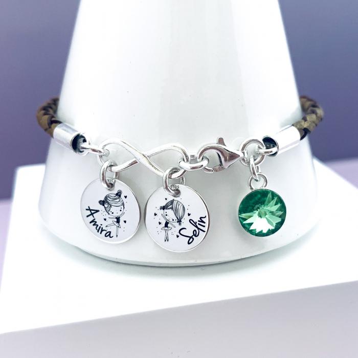 Bratara personalizata argint charm infinit,cristal Swarovski 0