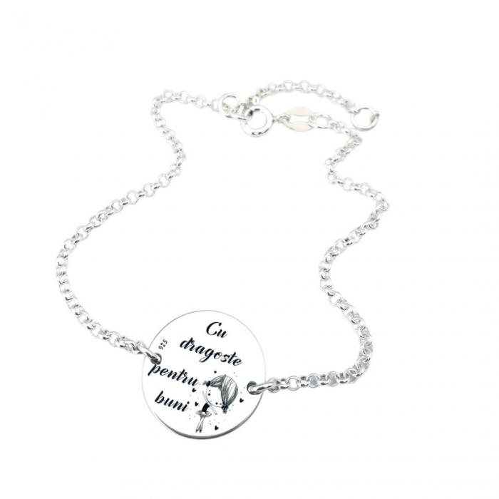 Bratara personalizata argint cu banut gravat pentru Bunica Personally ME [0]
