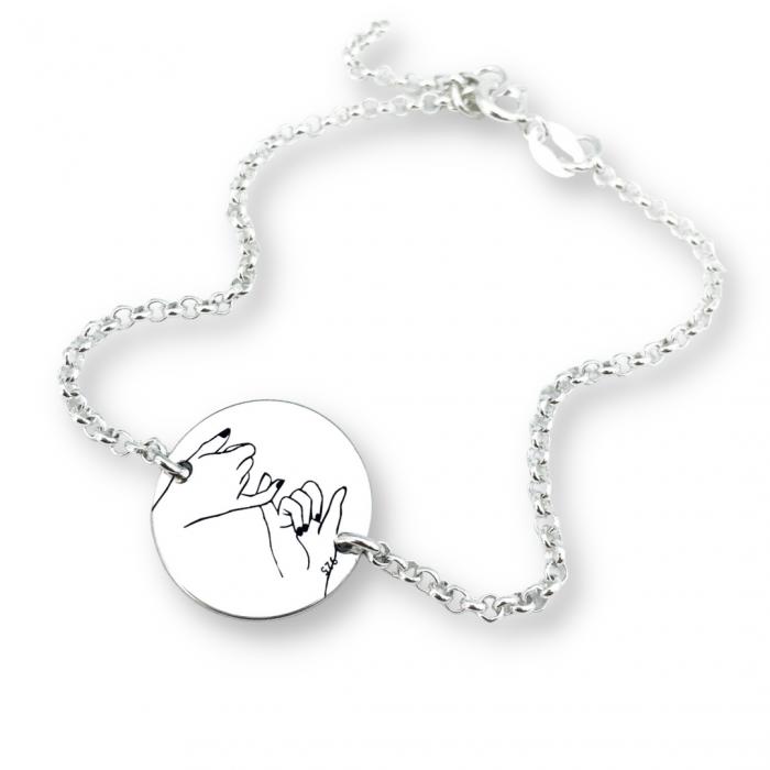 Bratara friendship personalizata argintSurori Together forever [0]
