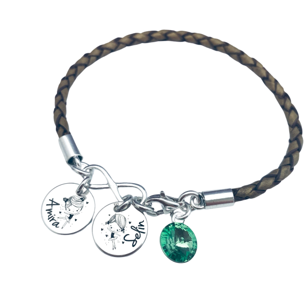 Bratara personalizata argint charm infinit,cristal Swarovski 1