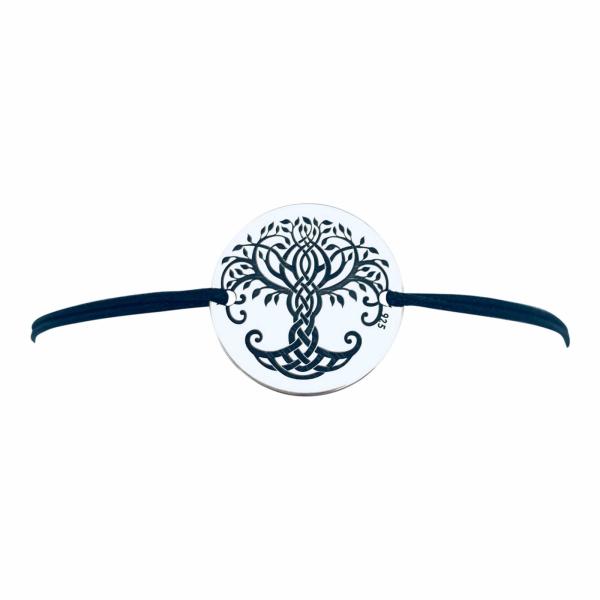Bratara personalizata gravata cu banut argint Luck 2