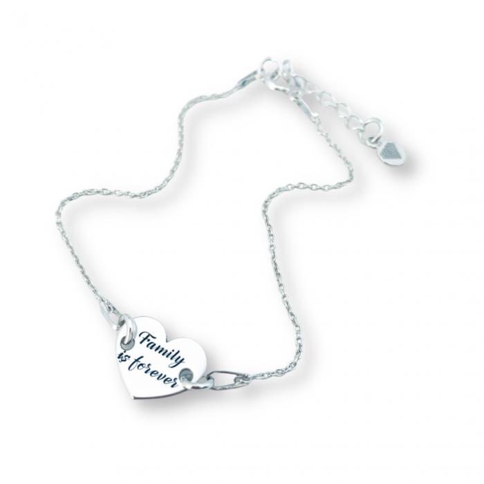 Bratara personalizata din argint, pandantiv inimioara [0]