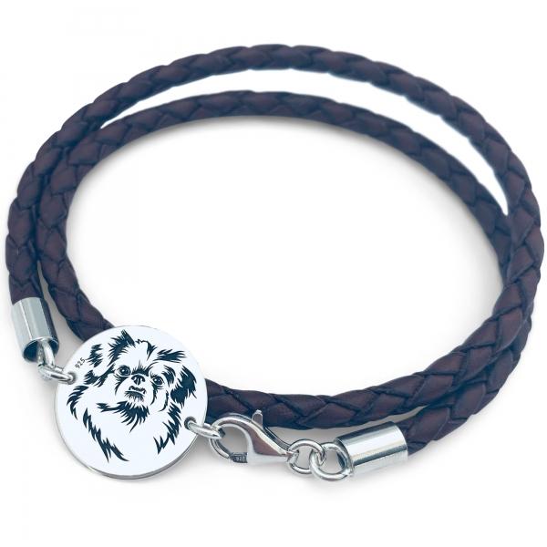 Bratara gravata simbol catel, pentru barbatiMy Favourite Pet 0